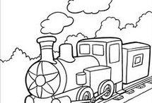 Vonatos szinező