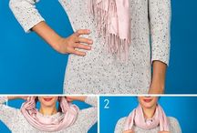 Neck and head scarf styles