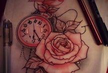 Horloge tattoos