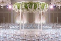Carousel Wedding Ceremony /  Unique ceremony set ups & ideas, ceremony music, details for floral arrangements