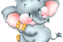 Clip Art/ Elefánt