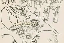 George Grosz / George Grosz was one of the greatest satirical artists of the 20th century. A co-founder of the Berlin Dada group and revolutionary in the 1920s, he made hundreds of drawings depicting the vices and injustices of capitalist society during the Weimar era, many of them published in portfolios by the radicalpublisher Malik Verlag.