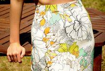 Handmade High Waist Colorful - Floral Midi Skirt