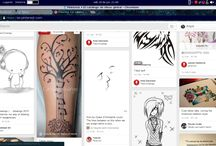 Tatuajes blanco y negro. / Arte.