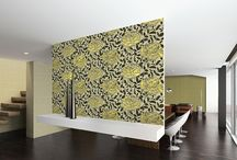 Villa d'Este / Italian fine wallpapers. Vinyl wallcovering, paper backing with velvet designs