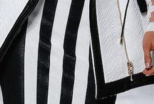 Balmain Spring 2015 RTW / Black & White jacket blouse and shirt