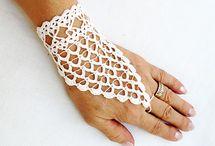 crochet wedding gloves
