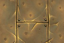 Stylized texture metal