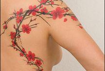 Blomster tatoveringer
