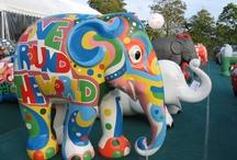 elephant art / painted elephants on display in Singapore / by Elsie Lee