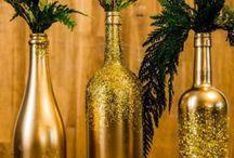 garrafas de vinho... decorar