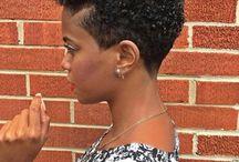 TAPERED CUT HAIR / FOR A  BLACK WOMAN'S SHORT  NATURAL  HAIR