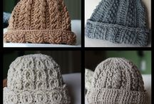 KNITTING HATS/GORRAS TEJIDAS/CROCHET / I love knitting hats so one day I will have a big collection of hats for winter, now I share with all who loves this as well ;) / by Sandra DLB
