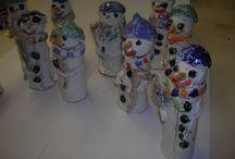 Namety na keramiku s dětmi zima