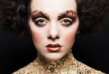 Golden Adele klimt / make up artistico