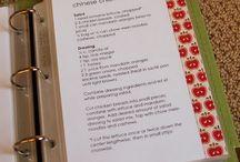 Homemade recipe books