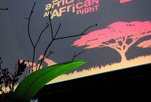 NUIT D'AFRIQUE / AFRICAN NIGHT / Pour ce safari événementiel, le signal du départ est donné par l'utilisation de nos coussins léopard sur des chaises Chiavari. The departure for this event leopard cushions. Exotic appeal of faux spots first popularized in the 1920 as a symbol of classic elegance and cutting edge chic.