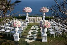 wedding ceremony aisle decorations / Design ideas for wedding ceremony aisles and flower decorations