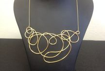 Necklace no 1 / Gold played necklace one of a kind