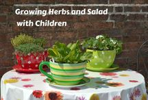 Growing Herbs with Children / Easy Grow herbs to grow with children  kids gardening