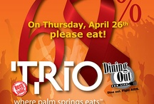 Dining Out For Life Palm Springs  / Always the last Thursday in April annually.  Dine Out. Fight AIDS!  Benefiting clients of @desertaidsproject.org