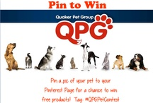 Pin To Win at QPG / Pin a pic of your #pets to our folder for a chance to win free product! Add the tag #QPGPetContest in the description of any adorable pet pics. We'll be selecting winners each month! (Or submit your favorite photo to pets@quakerpetgroup.com and win a free toy if your picture is chosen!)