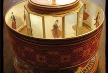 Pregianze varie / Cigarbox guitar, prassinoscopi, packaging, artigianato, decoro murale