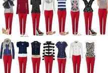 rojo pantalón