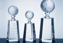 Golf Awards / Our golf awards include pieces in crystal as well as clear and jade glass.