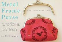 Metal frame purses