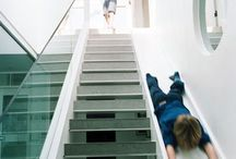Glijbaan van trap