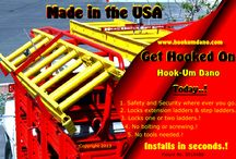 Ultimate Ladder Satety & Security / Protects your Extension Ladders and Step Ladders against Cross-Winds, Theft and Accidents.