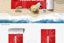 Scene Beach Towel Mockup