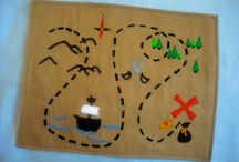 treasure maps / lets find treasure, maps to use with children