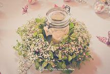 Inspirations déco de mariage / décos de table, décos florales...