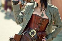 Steampunk / Clothing, airships, and settings to inspire my in-progress steampunk novel.