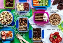 snacks lunch healthy / by Laurie Person