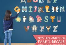 Peel and Stick Fabric Wall Decals