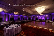 Uplighting & Decor / Are you looking for Uplights / Uplighting for your wedding? Phenomenon Events can handle any room and create the perfect feel and design for you wedding! Give us a call for a room evaluation with our specialist Tasha! 716-824-4714