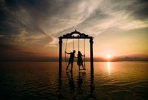 Des Couples Heureux Sur Des Belles Photos De Mariage