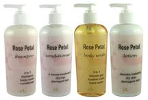 Fragrance Scented Shampoo Conditioner Shower Gel Lotion Bath Set / by Ladybug Spot