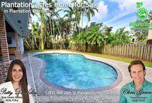 Plantation Homes for Sale by Broker Patty Da Silva at Green Realty Properties