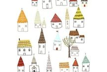 little houses made of .......