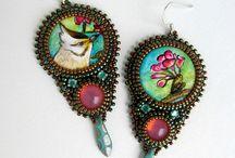Bead EmbroideryQ Earrings