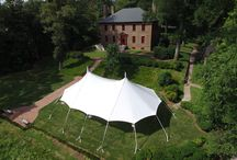 Sailcloth Tents / A collection of our favorite events and inspiration for future weddings and special events focusing on Sailcloth tents and specialty lighting!
