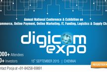 DigicomExpo 2015 Chennai / Digicom Expo 2015 Chennai aims to bring together the entire ecommerce eco-system. With more than 60 (projected) companies participating. It will represent players from every part of the ecosystem. Digicom will be India's largest display of services and technology under one roof. This event will provide tremendous opportunities for the companies participating to enhance their brand value by displaying their services and products.  Main FOCUS AREA: * Jewellery * Real Estate * Fashion & Lifestyle