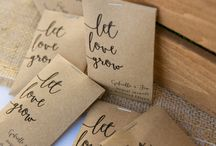 Party Favours / party favours, calligraphy wedding favours, calligraphy party favours,