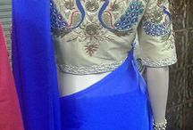 Customized hand-work embroidered Sarees & blouses / Delightful display of hand embroidered sarees & blouses. Customize as per your designs and embroidery.