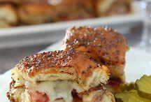 Sliders, hot sandwiches