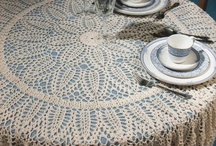 Crochet ,knitted tablecloth